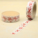 Chrostmas tree printed self adhesive washi tape for christmas decorating