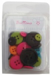 Colorful assorted plastic buttons For craft