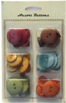 Vintage assort plastic buttons mixed collection