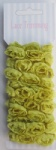Dark Yellow Double row chiffon rose flower lace trim