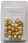 Decortive Plating gold shank pearl buttons