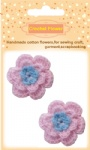 Pink crochet flowers for craft