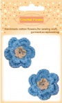 Blue crochet flowers for craft