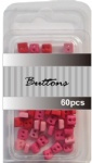 Red set assort mini square buttons wholesale-tiny buttons