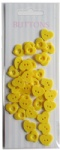 Yellow set Forest love shape buttons-novelty buttons-cute buttons