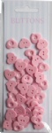 Pink set Forest love shape buttons-novelty buttons-cute buttons