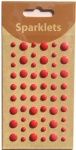 self adhesive enamel dots-red collection-embellishments
