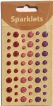 self adhesive glitter enamel dots-girl collection-embellishments