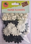Nature set scrapbook paper flowers-rose flowers-cardmaking embellishments