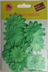 Green collection scrapbook paper flowers-paper petals-embellishments
