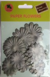 Grey collection scrapbook paper flowers-paper petals-embellishments