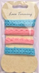 Colorful cotton lace pack-card making embellishments