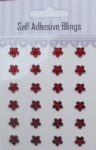 24pcs Red 8mm flower self adhesive gems sticker wholesale